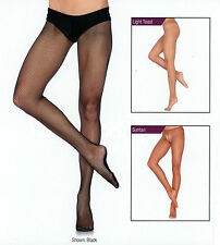 Leg Avenue PD801 Low Rise Tights Pro Dancer Fishnet Reg Size A/B Black or Suntan