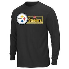 Pittsburgh Steelers Majestic Critical Victory VII Long Sleeve T-Shirt - Black