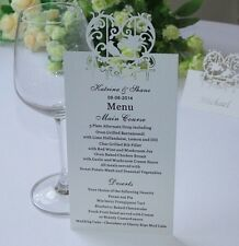 Personalized & Free Printed  Menu Cards For Wedding, Birthday table Description