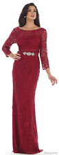 PLUS SIZE MOTHER of BRIDE GOWN FORMAL EVENING CRUISE BANQUET EVENT FUNERAL DRESS