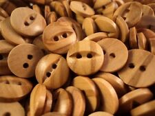 20pcs BABY FISH EYE OLIVE NATURAL WOOD BUTTONS 9mm-10mm-11mm - !RARE! W2190