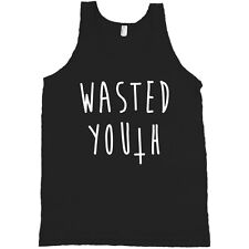 Wasted Youth Upside Down Cross AMERICAN APPAREL Tank Top Shirt Punk Music *NEW*