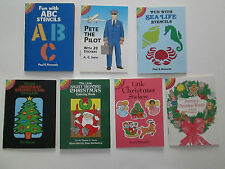 Dover Little Activity Books for Children, Christmas, Abc, Your Choice, New