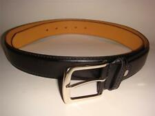 MEN BIG TALL BLACK BROWN LEATHER BELT 1.5 INCH WIDE SIZE 46-48 50-52 54-56