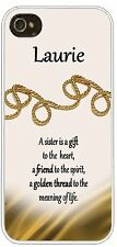 Personalized  iphone case 4 5 any name Cover Golden Thread Sisters Friends Gift