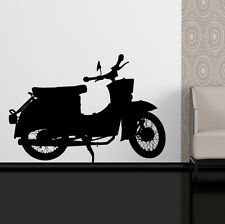 SCOOTER MOPED SILHOUETTE - BIG Vinyl Wall Art Sticker, Decal