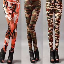 Sexy Women Girls Skinny Fall Leggings Camouflage Army CAMO Stretchy Pencil Pants