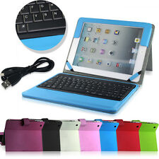 PU Smart Stand Case Cover with Removable Bluetooth Keyboard for iPad 2 3 4th