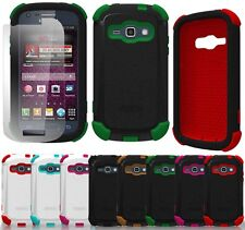 DUO SHIELD RUGGED CASE COVER SCREEN SAVER FOR SAMSUNG GALAXY RING / PREVAIL 2