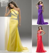 chiffon beaded bridesmaid prom Formal Evening Cocktail Party Ball Gown dreses