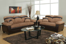 Sofa and Loveseat Microfiber sofa set 2 Pc Living room set Furniture Sofa Couch