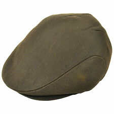 Men's high quality brown leather effect country flat cap