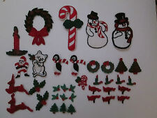 Appliques - YOUR CHOICE- Christmas, Santa, Trees, Wreath More FREE SHIP W$10 PUR