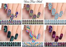Water Decals - Patterned Sticker Transfer DIY - Full Nail Wrap - Vivid Wild - UK