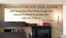 Wall Decal Quote Vinyl Sticker Art Lettering Letter Lion King Disney Mufasa B87