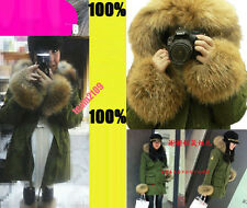 REAL SHOWN FASHION EXTREME BIG FOX FUR NEW WOMENS DOWN JACKET THICK COAT PARKA