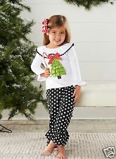 Mud Pie Christmas Holiday Best Baby Girl Toddler Christmas Tree Pant Set 111A039