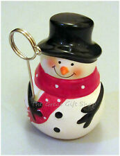 Cute Ceramic Snowman Name Place Card Photo Holder Christmas Table Decoration