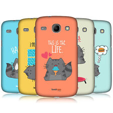 HEAD CASE DESIGNS WILBUR THE CAT BACK CASE COVER FOR SAMSUNG GALAXY CORE I8260