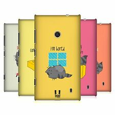 HEAD CASE DESIGNS WILBUR THE CAT PROTECTIVE BACK CASE COVER FOR NOKIA LUMIA 520