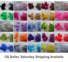 "8g (1/4Oz) 1~3"" Turkey Marabou Feather, 25+ colors to pick up from, New!"