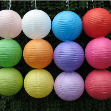 Multicolor Chinese paper Ball Lanterns Wedding Party with Led Light Decoration