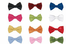 Men's High Quality Easy Clip-on Bow Tie Solid 16 Colors Style BT2