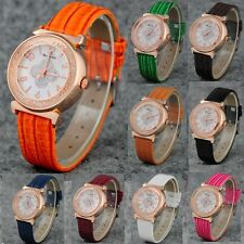 12 Colors Fashion Bling Crystal Colorful Lady Womens Girl's Quartz Wrist Watch