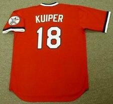 DUANE KUIPER Cleveland Indians 1975 Majestic Cooperstown Baseball Jersey