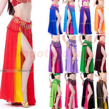 Professional Sexy Belly Dance Costume Dance Skirt Chiffon Dress 13 colors