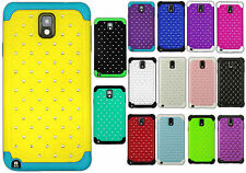 For Samsung Galaxy Note 3 HYBRID IMPACT Dazzling Diamond Case Phone Cover