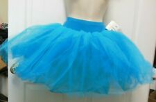 NWT Main Street European Ballet Tutu w/Trunks Turquoise Blue ch/adult sizes