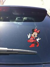Minnie Mouse Dancing Twirling Car Window Vinyl Decal Sticker Disney