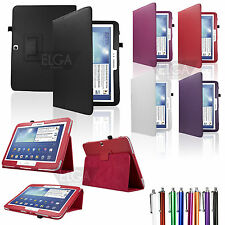 """Folio Leather Case Auto On/Off Cover for Samsung Galaxy Tab 3 10.1""""+Accessories"""