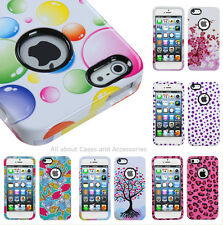 Apple iPhone 5 5s Cute Girl/Girly Image Phone Protector Cover Case with Ring