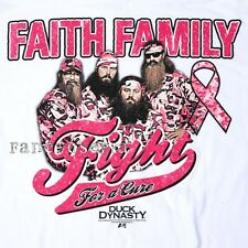 DUCK DYNASTY T-SHIRT COMMANDER SI PHIL ROBERTSON BREAST CANCER AWARENESS PINK