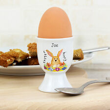 NEW PERSONALISED EGG CUP PICK FROM FOLLOWING DESIGNS BIRTHDAY CHRISTMAS EASTER