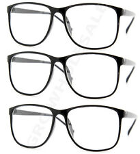 3 Pairs NERD Smart Interview Black FAKE Glasses Thin Frame fashion wholesale lot