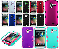 For Motorola Moto X XT1058 IMPACT TUFF HYBRID Case Phone Cover Accessory