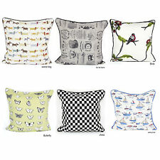 New Vintage Style Printed 100% Cotton Decorative Cushion Covers Pillow Case