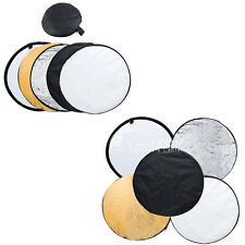"""24"""" 32"""" 43"""" 5 in 1 Multi Collapsible disc Photo Light Reflector 60cm/80cm/110cm"""