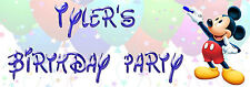 Personalised Mickey Mouse Party Banner for kids/childrens birthday Party