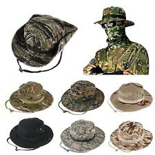 Combat Camo Ripstop Army Military Boonie Bush Jungle Sun Hat Cap Fishing Hiking