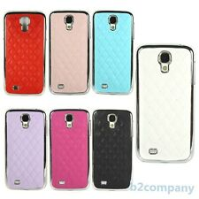 Hot Sale Chrome Frame Leather Skin Hard Case Cover For Samsung Galaxy S4 i9500