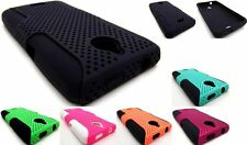 MESH DUAL LAYER HYBRID CASE HUAWEI ASCEND PLUS H881C / VALIANT Y301 CELL PHONE