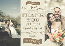 PERSONALISED VINTAGE/FADED PHOTO WEDDING THANK YOU CARDS