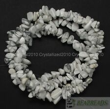 "Natural White Turquoise Gemstone 5-8mm Chip Nugget Loose Spacer Beads 35"" Strand"