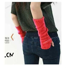 Fashion  Unisex Women Men Arm Warm Long Fingerless Knit Winter Gloves