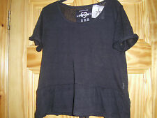 Primark - Ladies Black t-shirt top - Sizes 6 to 14 - New with tags