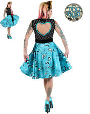 TOO FAST ATOMIC NANCY DRESS PIN UP 50'S ROCKABILLY PSYCHOBILLY PINUP EMO PUNK